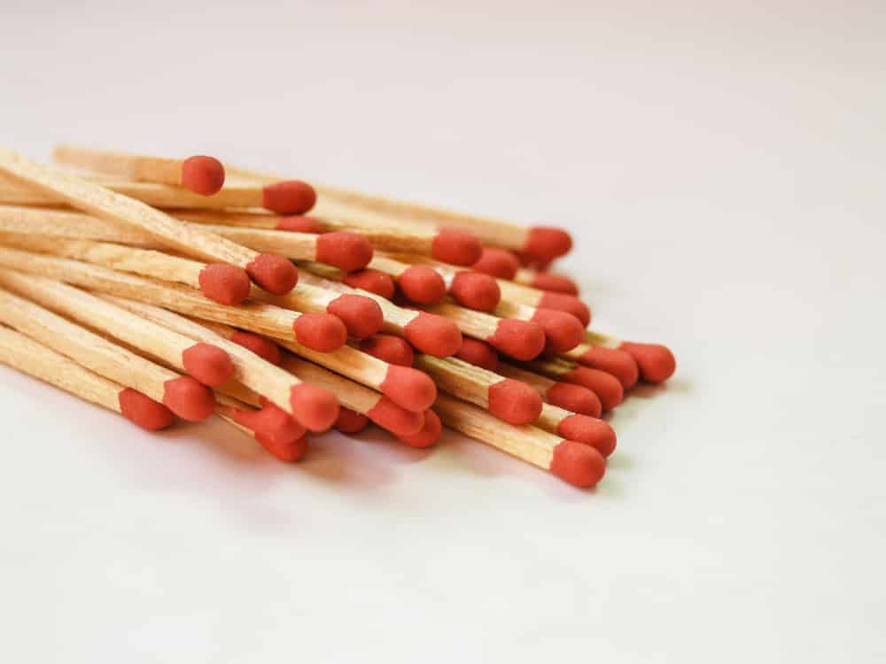 A bundle of matchsticks
