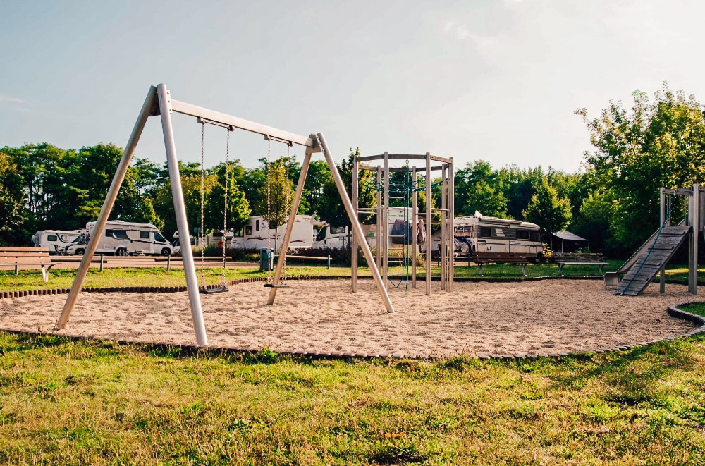 A playground at a campsite