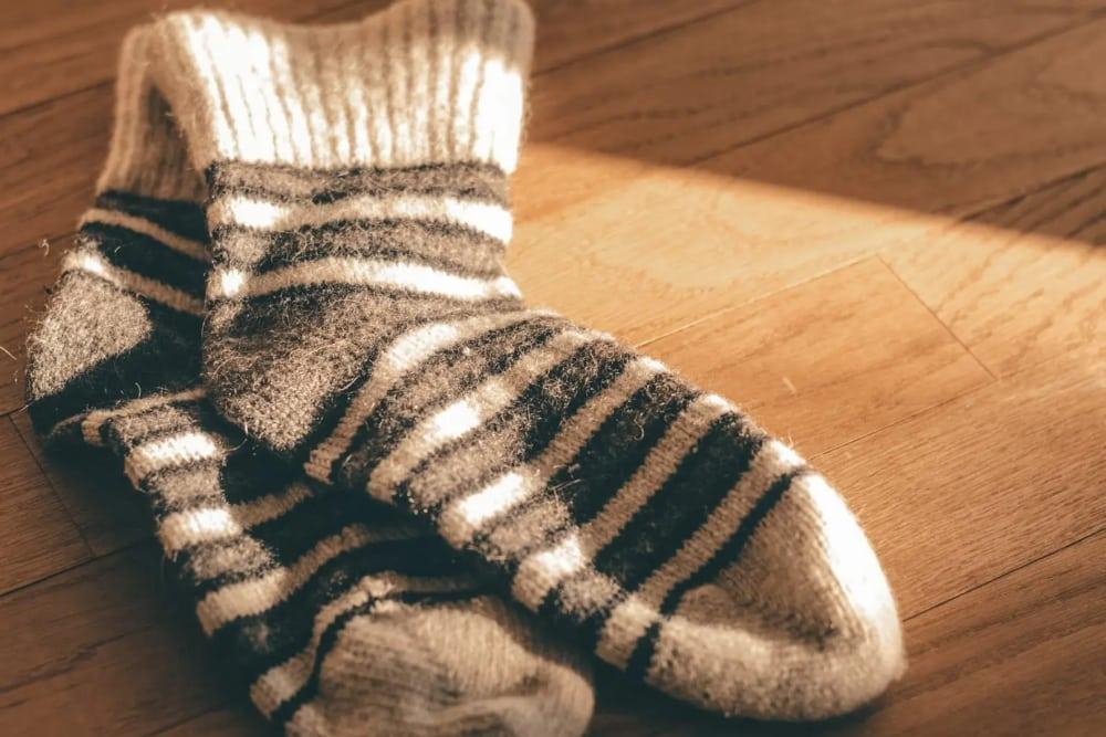 A warm pair of wool socks