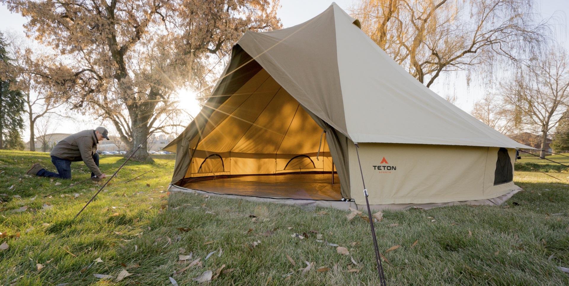 Teton Sports Sierra 10 person canvas camping tent