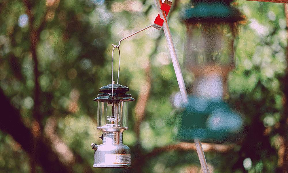 a camping lantern