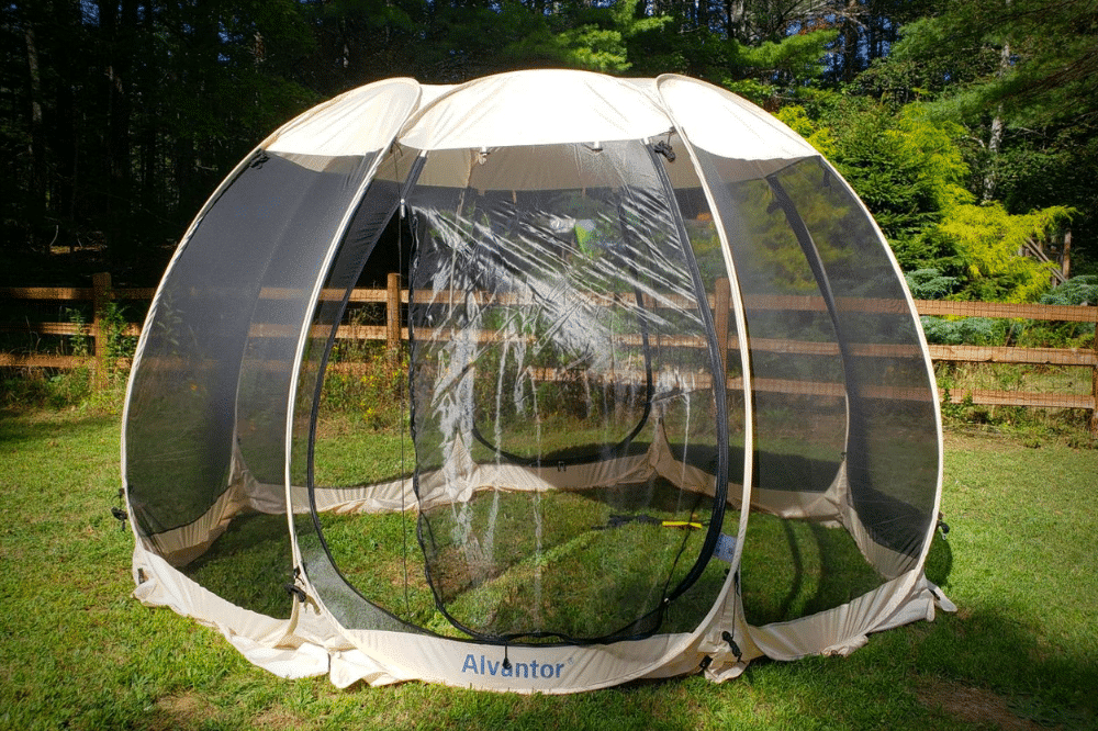 The Alvantor screen house tent is one of the best screen tents for camping and using it in your backyard.